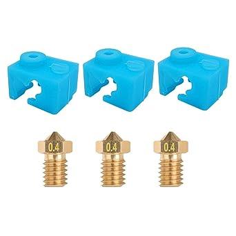 HAWKUNG Calcetín de silicona para impresora 3D, 3 piezas V6 de ...
