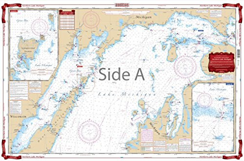 Waterproof Chart, Standard Navigation, 72 Northern Lake Michigan