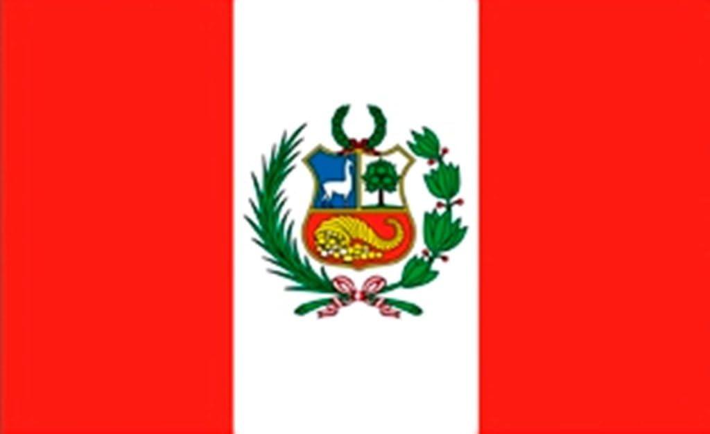 FRIP de XXL gigante Bandera Perú con escudo Fan 2, 50 x 1, 50 m Bandera Banderas con ojales: Amazon.es: Jardín