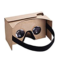 Virtoba V2 Google Cardboard Kit 3D Réalité Virtuelle Cardboard Lunettes en Carton 3D VR Cardboard Glasses avec pad nez, pour Smartphone avec Ecran 3,5-6,0 pouces Compatible avec Android et iOS