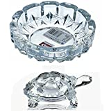 D&D New Look Crystal Turtle-Tortoise For Feng Shui And Vastu-Best Gift For Blessing-With Pond-Pot