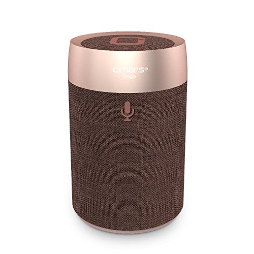 Omars Smart Wireless Speaker DOGO - Portable Voice Controlled Speaker with Amazon Alexa(Brown) (My Alarm Doesn T Wake Me Up)