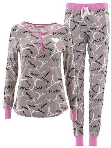 (Love Loungewear Juniors Gray Paris Fireside Pajamas)