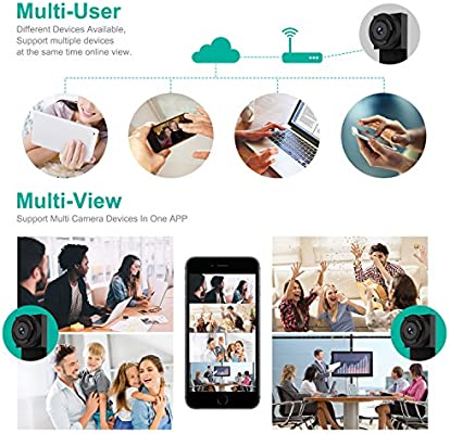 Spy Hidden Camera, Wireless Wi-Fi Camera 1080P APP Mini Portable