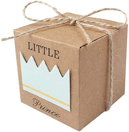 50 Piezas Cajas de Caramelo Dulces Cumpleaños Bombones Baby Shower Favor Cajas de Papel Kraft Caja de dulces Caja de regalo Caja de embalaje(Azul): Amazon.es: Hogar