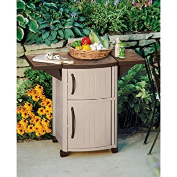 Patio Outdoor Storage Cabinet And BBQ Prep Station Cooking Grill Table  Summer Barbeque Party Food Cart