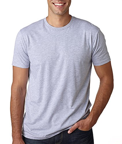 Next Level Mens Premium Fitted Short-Sleeve Crew 3600-Heather Grey (90/10)-X-Small
