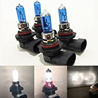 Mega Racer Combo (2 Pair) 9006-HB4 9005-HB3 Super White 5000K Xenon Halogen Headlight Bulb (High/Low Beam) Head Light US