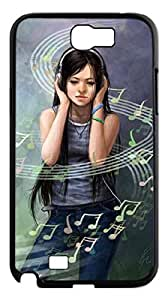 2015 popular Music notes Case for Samsung Galaxy Note 2 N7100,Amazing Music Inspired phone Case for Samsung Galaxy Note 2 N7100.