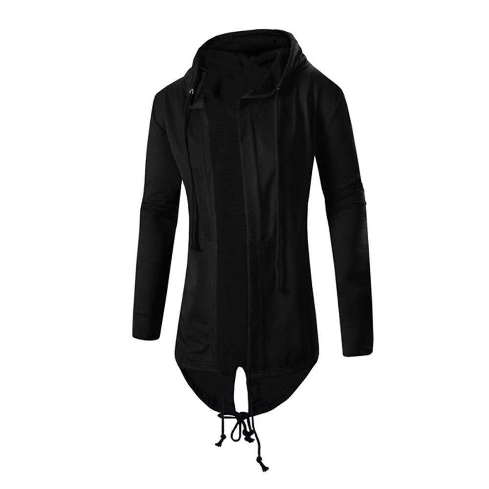 Mens Cardigan Coat Autumn Winter Medium Hooded Cardigans Cloak Coat Outwear Top Blouse