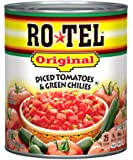 Ro-Tel Diced Original Tomatoes and Green Chilies, 28 Ounce (Pack of 12)