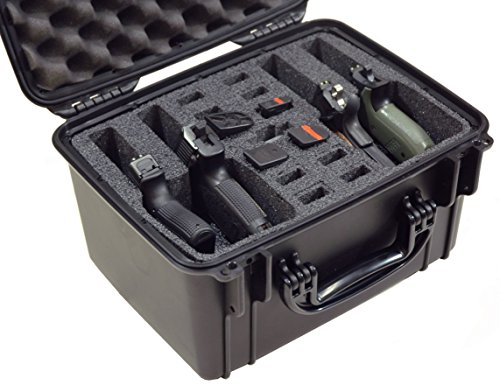 Four Pistol Case (Case Club Waterproof 4 Pistol Case with Silica Gel)