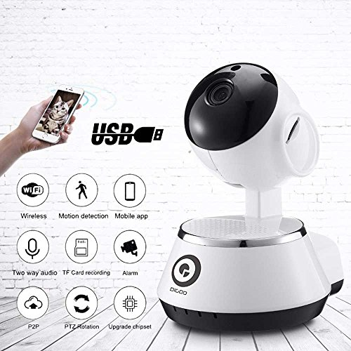 Best Baby Monitor Digoo BB-M1WiFi HD 720P+IR+USB, 2 Way Chat, Motion Detection,Home Security Camera Wireless USB Baby Monitor