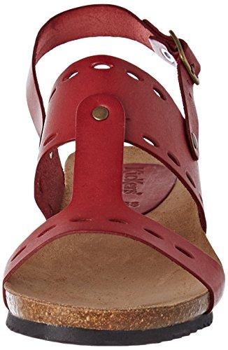 Femme Tokali Sandales Rouge Ouvert Kickers Foncé Bout Rouge Iq1dwRH