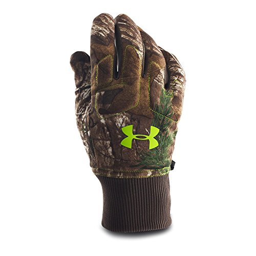 Under Armour Men's Scent Control Armour Fleece Gloves, Realtree Ap-Xtra (946)/Velocity, ()
