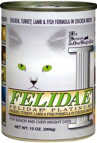 Felidae Canned Cat Food for Senior and Overweight Cats, Platinum Diet Formula (Pack of 12 13 Ounce Cans), My Pet Supplies