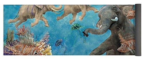 Pixels Yoga Mat w/ Bag ''Curious Ocean'' by Pixels