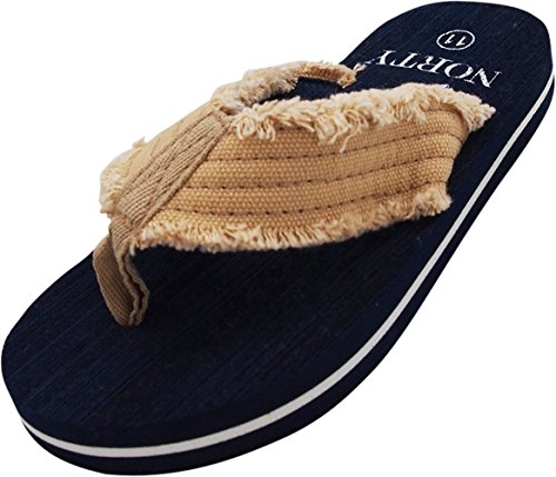 NORTY - Boys Lightweight Thong Flip Flop Sandal for Everyday, Beach or Pool - Runs 1 Size Small