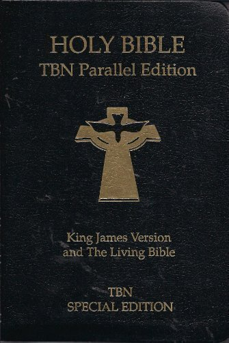 Holy Bible: People's Parallel Bible, King James Version and the Living Bible, Black Binded
