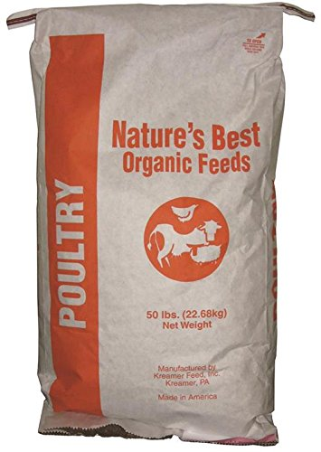 Natures Best Organic Feed 061005 Organic Poultry Scratch Feed, 40 lb