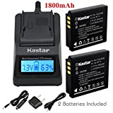 Kastar Ultra Fast Charger(3X faster) Kit and Battery (2-Pack) for Fujifilm NP-70, Panasonic Lumix CGA-S005, DMW-BCC12, DE-A12 work with Fuji FinePix F20, F20 Zoom, F40fd, F45fd, F47fd and Panasonic Lumix DMC-FS2, DMC-FX1, FX3, FX7, FX8, FX9, DMC-FX10(FX10GK), DMC-FX12, DMC-FX50, DMC-FX100, DMC-FX150, DMC-FX180, DMC-LX1, DMC-LX2, DMC-LX3, Leica D-LUX3, Leica C-LUX 1, Leica D-LUX2, Ricoh Caplio R3, Ricoh Caplio GR Cameras [Over 3x faster than a normal charger with portable USB charge function]