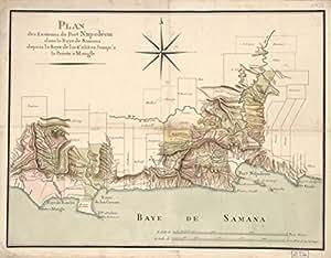 1807 map of Santa Barbara de Samana Plan des environs du Port Napoleon dans la B