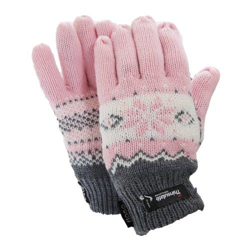 (フロソ) FLOSO レディース シンサレート フェアアイル柄 サーマル グローブ 手袋 女性用