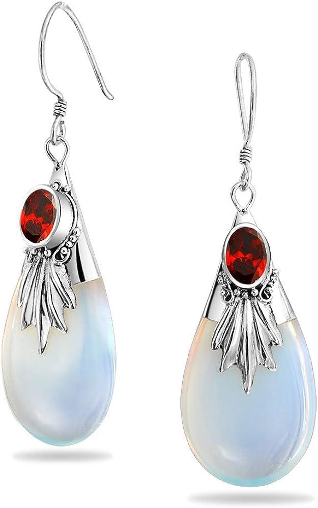 Gift for Her Spotted Teardrop Earring Sterling Silver Ear Wires Handmade Glass Enamel