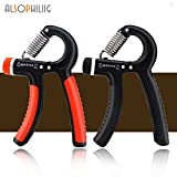 alsophiliig Hand Grip Strengthener Adjustable Resistance 22-88 Lbs Hand Grip Exerciser Strengthen Grip Hand Squeezer Forearm Grip Hand Exercise Gripper Finger Strengthener 2 Pack(Red+Black) For Sale