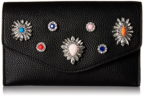 Crossbody Steve Colored Crown and Leather Madden Rhinestones Multi Black Non Jewels Clutch qwqvTxf