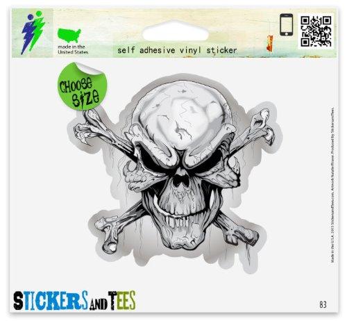Danger Skull Risky Business Sign Car Sticker Indoor Outdoor 5