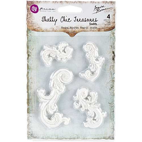 Prima Marketing SCRT8-92487 Shabby Chic Treasures Resin, Swirls