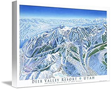 Deer Valley Mountain Map on