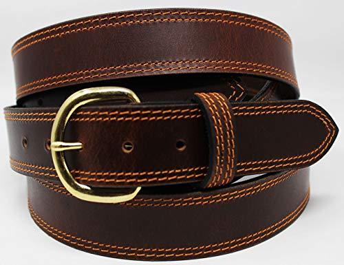 CHALLENGER 47-48 Men's Leather Casual Jean Dress Belt Removable Buckle - 47 Jean