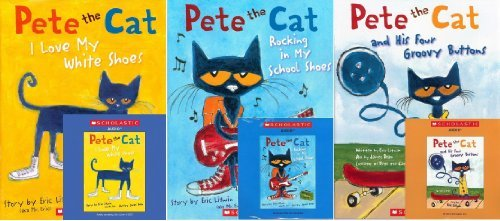 Pete the Cat Book and CD Pack (Book and CD) : Pete the Cat and His Four Groovy Buttons / Pete the Cat: I Love My White Shoes /Pete the Cat: Rocking in My School Shoes (Pete the Cat)