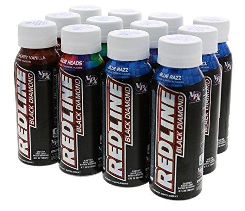 Black Diamond Laser - VPX Black Diamond Redline Variety Pack for Laser Focus, Clear Energy and Razor Sharp Reaction 12/8oz Bottles
