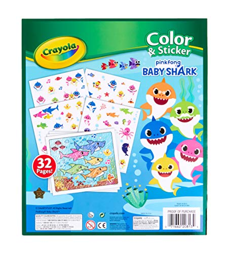 51Q8coZKJAL - Crayola Baby Shark, Gift for Kids, Ages 3, 4, 5, 6