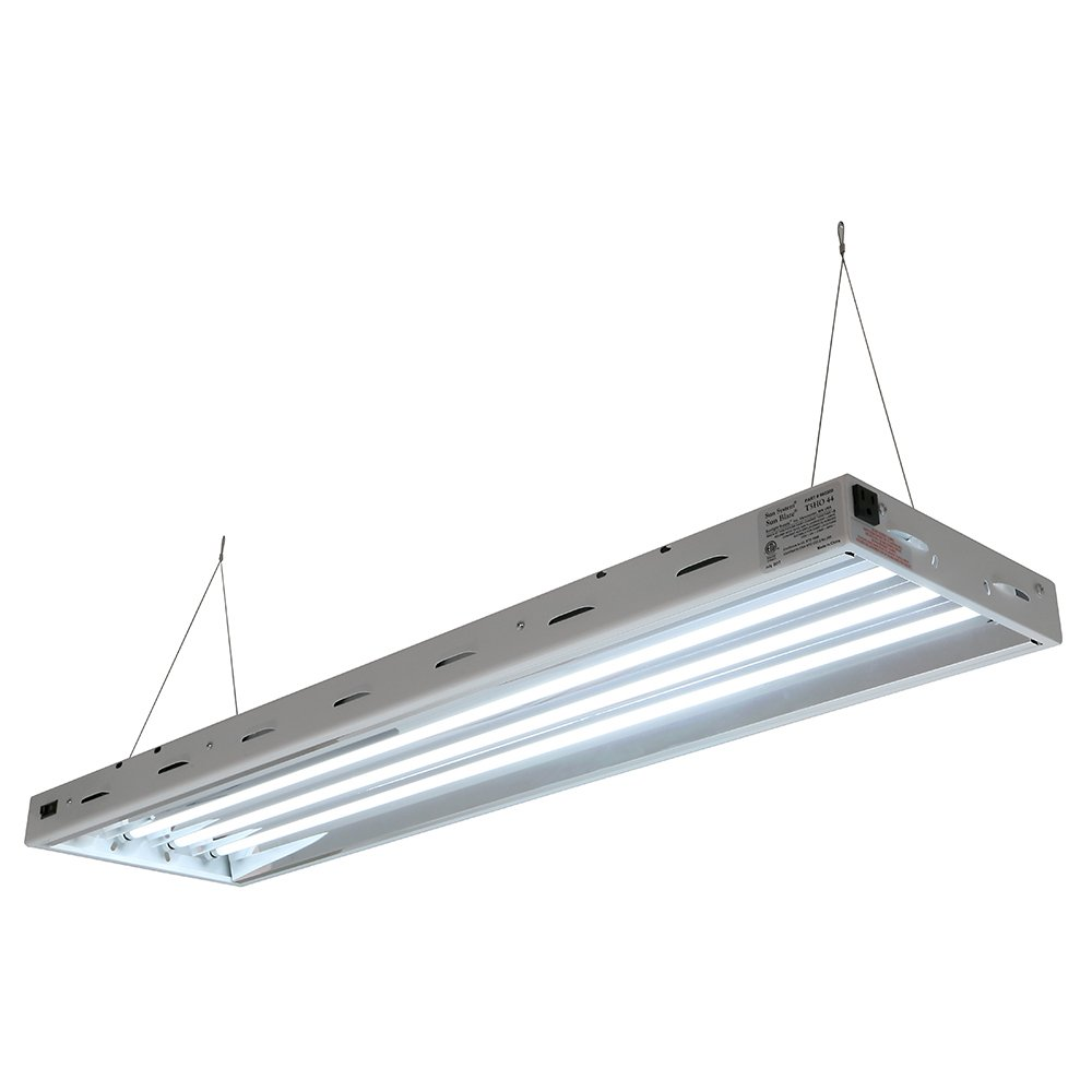 Com Sun Blaze T5 Fluorescent 4 Ft Fixture Lamp 120v Indoor Grow Light For Hydroponic And Greenhouse Use Garden Outdoor