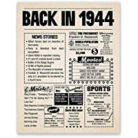 8x10 1944 Birthday Gift // Back in 1944 Newspaper Poster // 75th Birthday Gift // 75th Party Decoration // 75th Birthday Sign // Born in 1944 Print