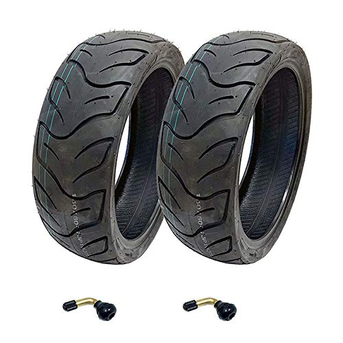 Discover Bargain MMG Set of 2 Tires 130/60-13 Tubeless Front or Rear Motorcycle Scooter Moped, Inclu...