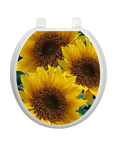 Sun-kissed Sunflowers TT-1901-R Round Colorful Theme Cover Bathroom