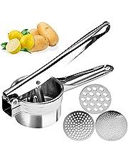 Manuell citronpress,Potatismosare,Diskmaskin-säker Juicer för att göra färsk juice, och grönsakspress med 3 utbytbara skivor