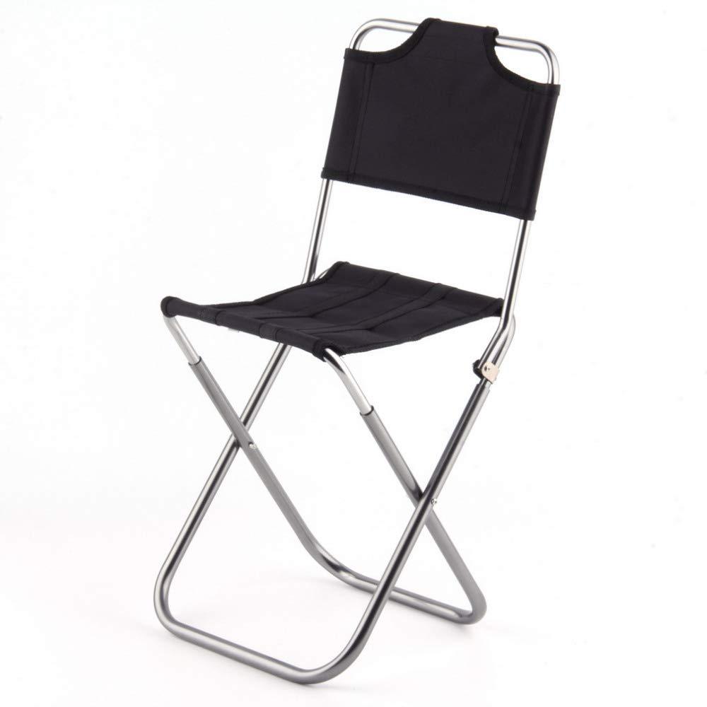 Rocita Tragbare Falten Freie Fischen Camping-Stuhl Aluminium Oxford Tuch Stuhl mit R/ückentragetasche Schwarz