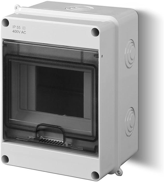 EPN - Caja de distribución para entornos húmedos (IP55, 1 Fila, para 5 interruptores diferenciales): Amazon.es: Electrónica