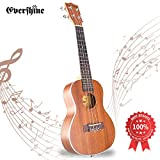 Evershine Mahogany Concert Ukulele for Beginner, 23 Inches Music Concert Smooth Sounds Ukulele, Four Professional Aquila Strings, Perfect Gift for kids and friends