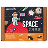 jackinthebox Art and Craft Science Kit for Kids - Space Explorer DIY Experiment Fun Kit for Children Ages 7-10, for Girls and Boys Learning Stem Toys (3-In-1)