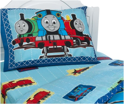(Thomas and Friends Patchwork II Standard Pillowcase )