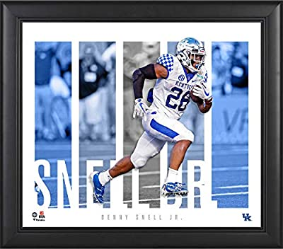 """Benny Snell Jr. Kentucky Wildcats Framed 15"""" x 17"""" Player Panel Collage - College Player Plaques and Collages"""