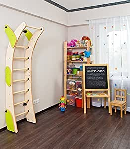 Amazon.com: Bigger Moon Childrens Indoor Home Gym (Swedish Wall) - Playground Set for Kids with