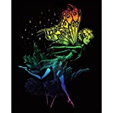 Royal Brush Rainbow Foil Engraving Art Kit, 8 by 10-Inch, Dancing Fairy